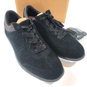 UGG Victoria Suede Sneakers Black Size 9 Nib
